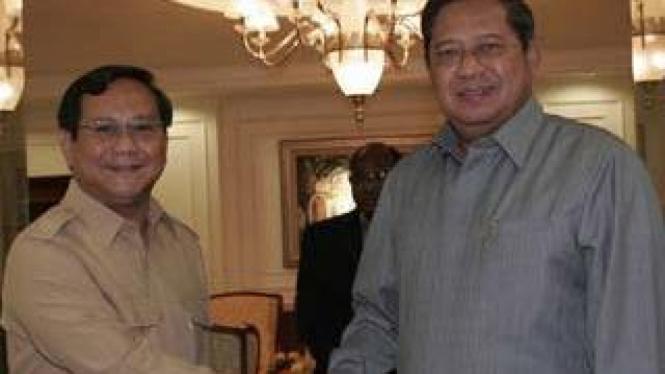 Prabowo Subianto dan Susilo Bambang Yudhoyono