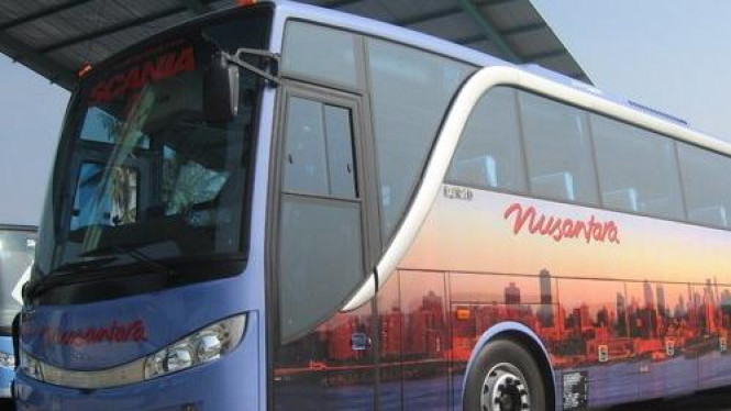 Salah satu bus Nusantara