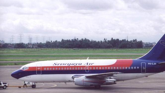 Pesawat Sriwijaya Air di bandara