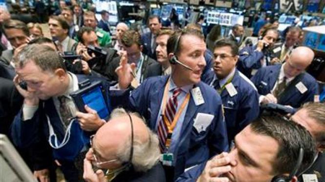 Para Pialang di Bursa Saham Wall Street