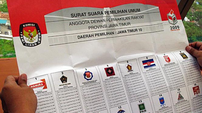 Surat Suara Pemilu 2009