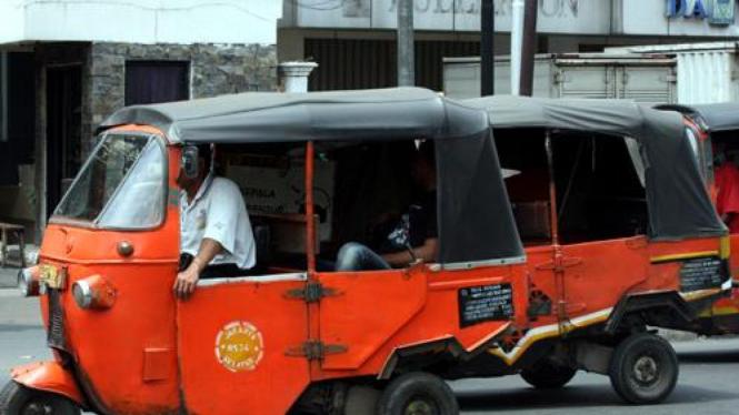 Bajaj masih beroperasi di Jakarta