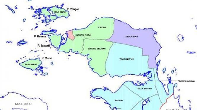 Peta Irian Jaya Barat