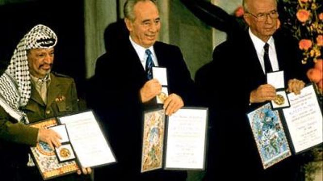 Nobel Perdamaian 1994 untuk Arafat, Rabin dan Peres