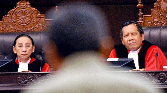 Mahfud MD & Maria Farida di Mahkamah Konstitusi