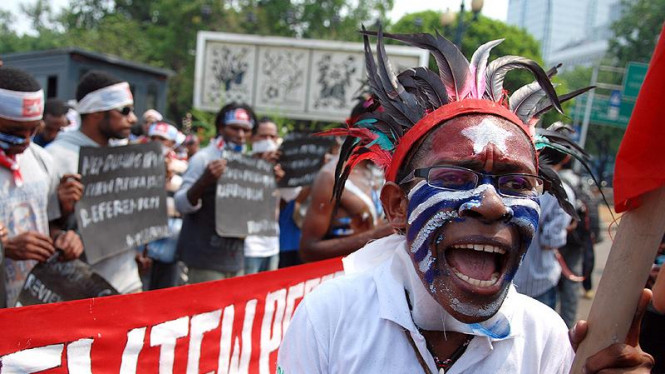 Demo Rakyat Papua di Monas