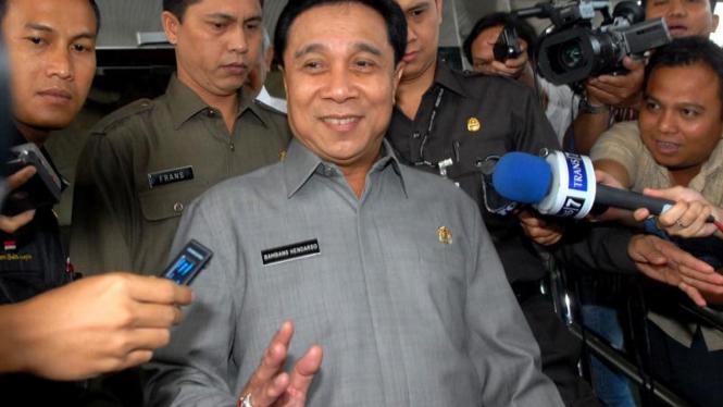 Kapolri Bambang Hendarso Danuri di KPK