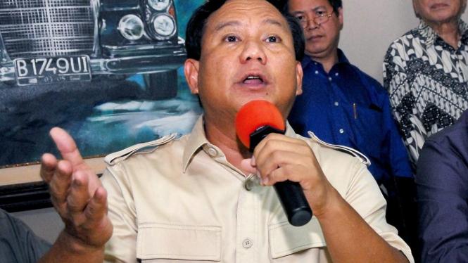 Calon Presiden Gerindra Prabowo Subianto