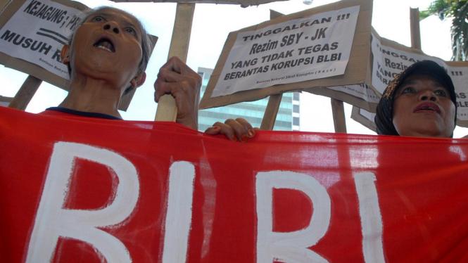 Demonstrasi menuntut KPK mengusut kasus BLBI