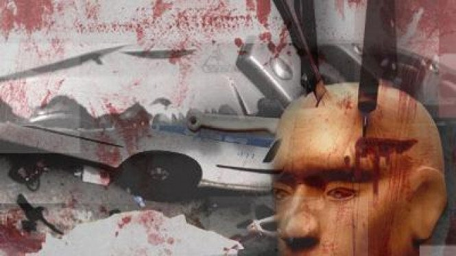 foto ilustrasi digital pembunuhan dengan pisau
