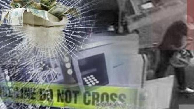 Ilustrasi pembobolan ATM
