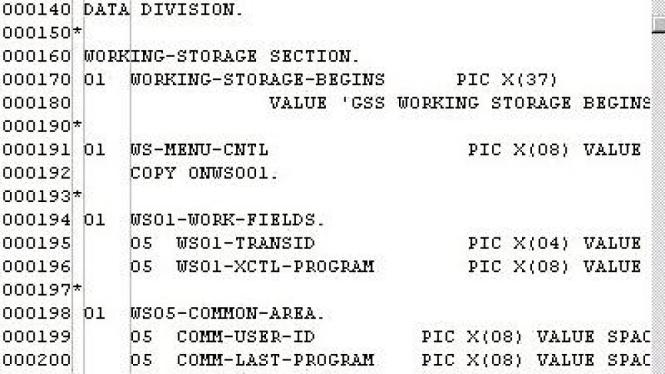 Contoh Listing Program Cobol