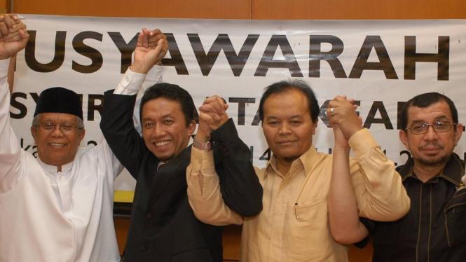 Hilmi Aminuddin, Tifatul Sembiring, Hidayat Nur Wahid dan Salim Segaf Al Jufri