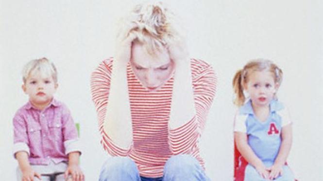 Jangan tularkan stres pada anak