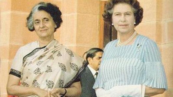 Indira Gandhi dan Ratu Elizabeth II