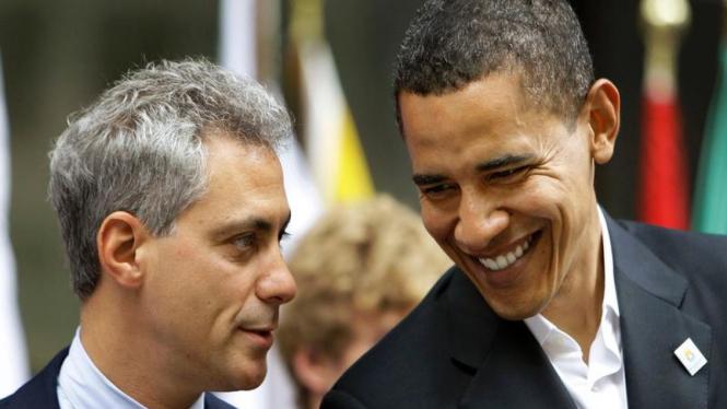 Barack Obama dan Rahm Emanuel
