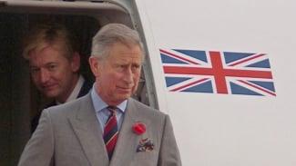 Pangeran Charles tiba di Lanud Halim Perdanakusuma