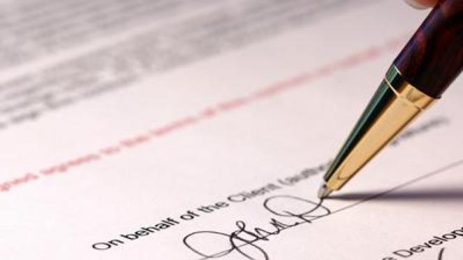 Ilustrasi Tandatangan Kontrak