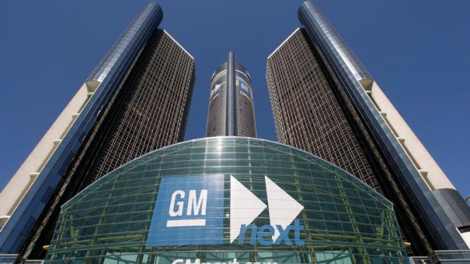 Kantor Pusat General Motors di Detroit, Amerika Serikat