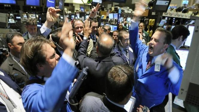 Reaksi para pialang di Wall Street atas naiknya harga saham