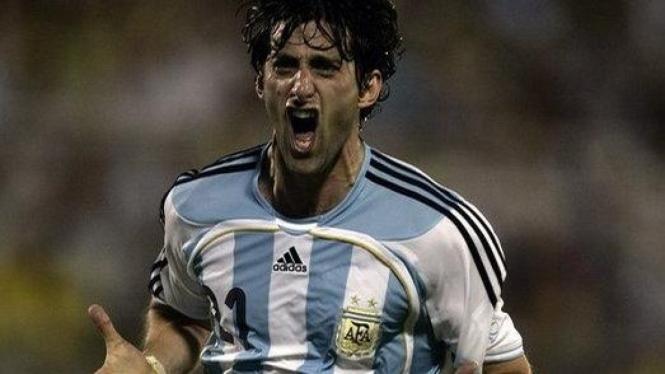Diego Milito berkostum Argentina