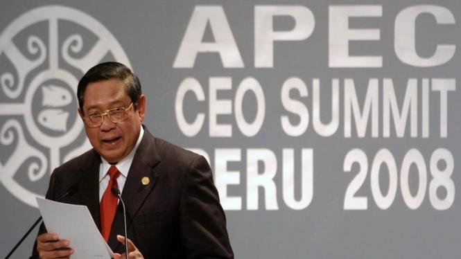 Presiden SBY Pidato di KTT APEC Peru