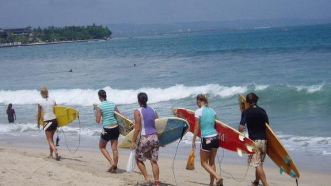 Wisatawan asing di Lombok NTB