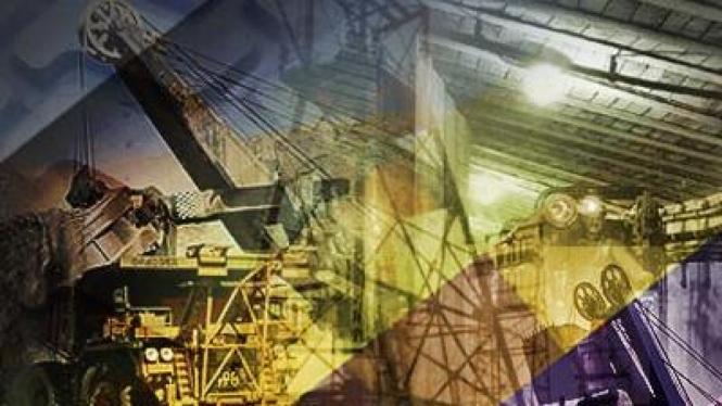 ilustrasi mesin pertambangan