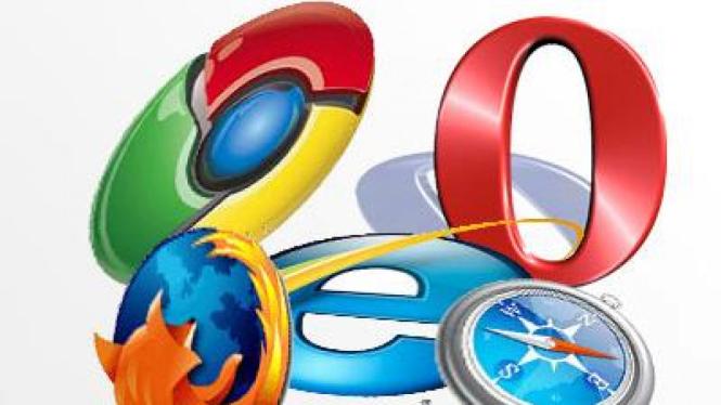 Ilustrasi web browser.