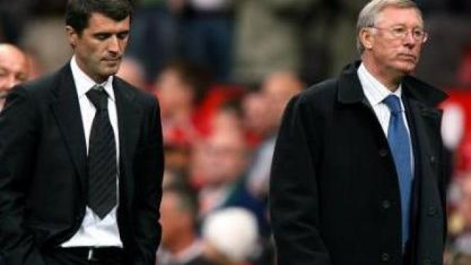 Sir Alex Ferguson (kanan) & Roy Keane