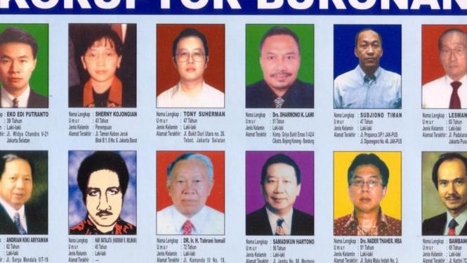 Para daftar buronan kasus BLBI.