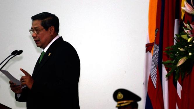 Presiden Susilo Bambang Yudhoyono di Pertemuan Khusus Menteri Luar Negeri ASEAN.