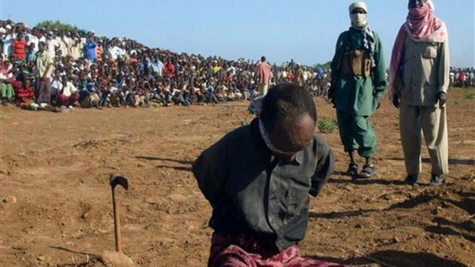 Seorang pria di Somalia dieksekusi mati setelah dituduh memenggal kepala ibunya