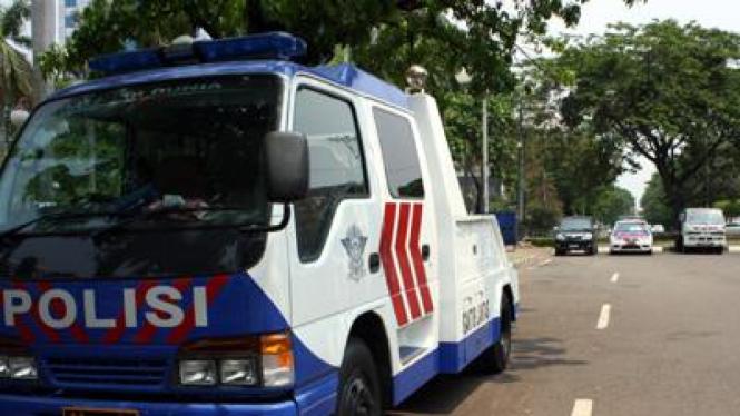 Ilustrasi Mobil derek milik Polda Metro Jaya