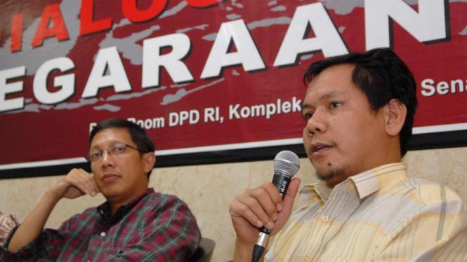 Indra J Piliang dan Lukman Hakim Saifudin