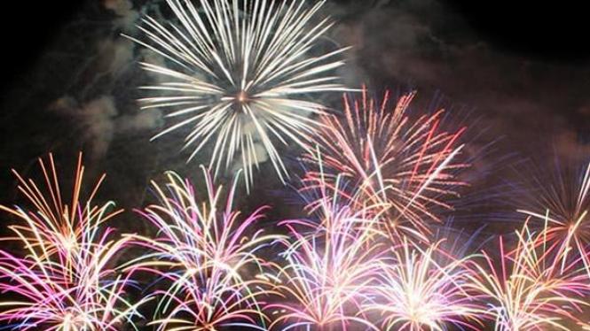 Pesta kembang api di Tahun Baru