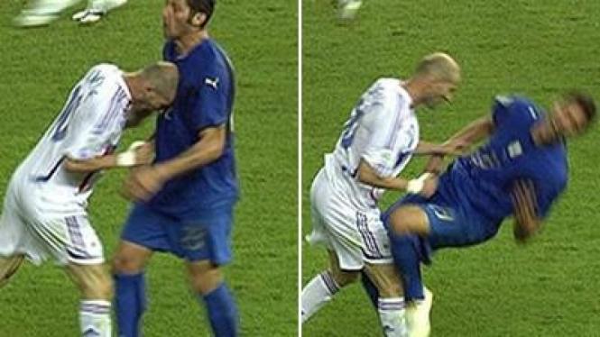 Tandukan Zinedine Zidane pada Marco Materazzi