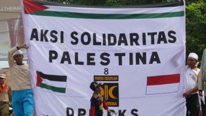 PKS Banjarmasin demonstrasi Solidaritas Palestina