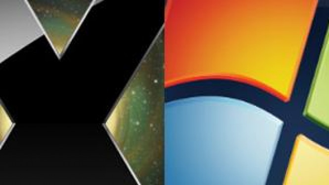 Ilustrasi Mac OS vs Windows