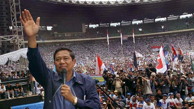 SBY saat Kampanye Partai Demokrat