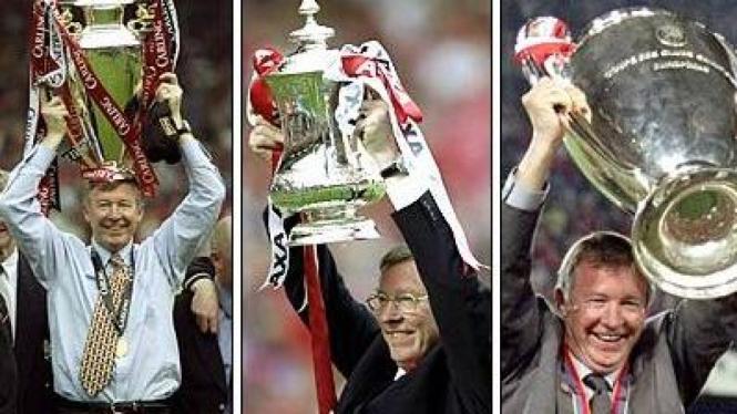Momen juara Sir Alex Ferguson