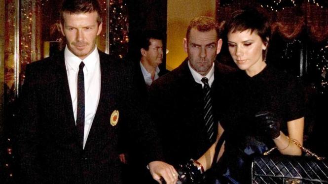 David dan Victoria Beckham berangkat ke San Siro