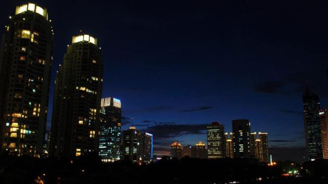 Gedung-gedung perkantoran di Jakarta