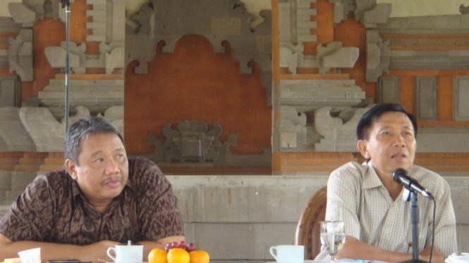 Gubernur Bali, I Made I Made Mangku Pastika  bersama wakilnya Anak Agung Gede