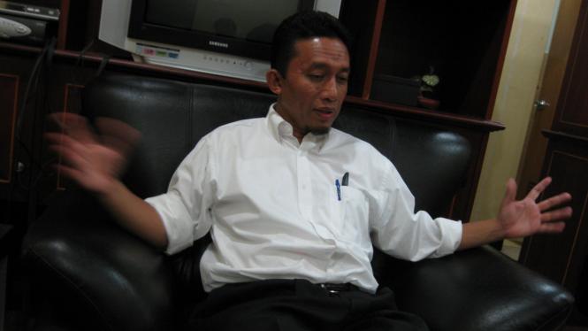 Tifatul Sembiring diwawancara di kantor PKS