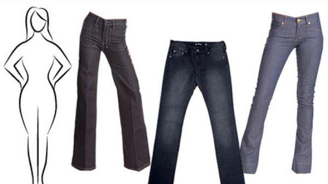 Jeans untuk bentuk tubuh jam pasir