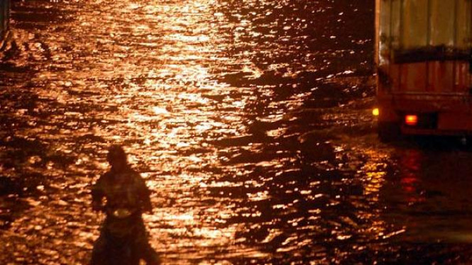 Banjir landa kawasan Cempaka Putih Jakarta Pusat