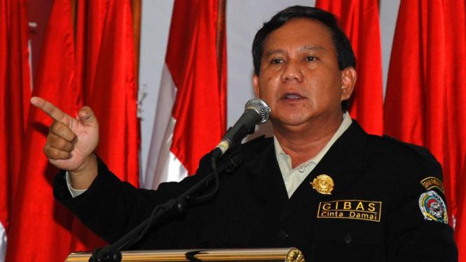 Prabowo Subianto didukung ormas Gibas di Bogor