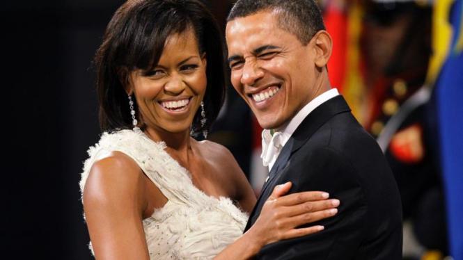 Michelle Obama pada Pesta Perayaan Pelantikan Obama