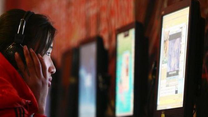Seorang pengguna internet di China